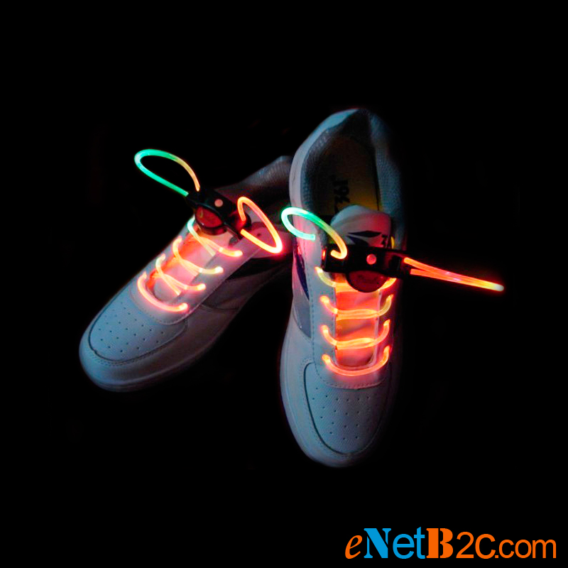 Colorful flashing LED waterproof shoelace