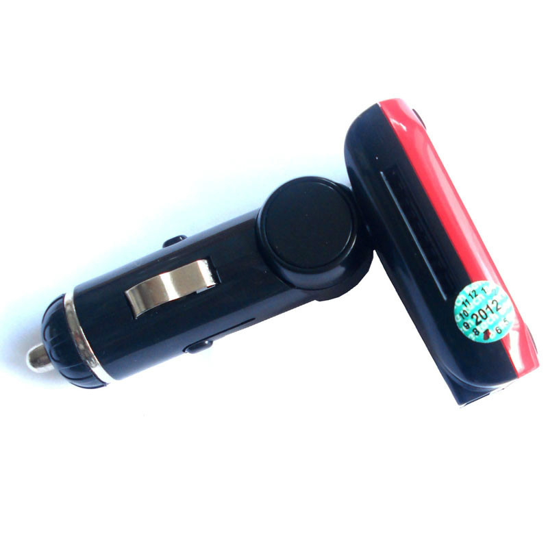 1.3 inch Car MP3 FM transmitter Support USB disk & SD & Micro TF,mp3 fm modulator FM201 free shipping