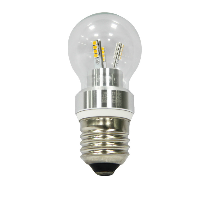 free shipping Top quality Dimmable 3W E26 E27 B22 led candle bulb light warm white LZ-32R07
