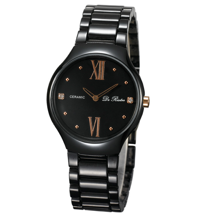 The new ultrathin ceramic watches contracted fashion lovers to the table the men and women's watch high-grade watches