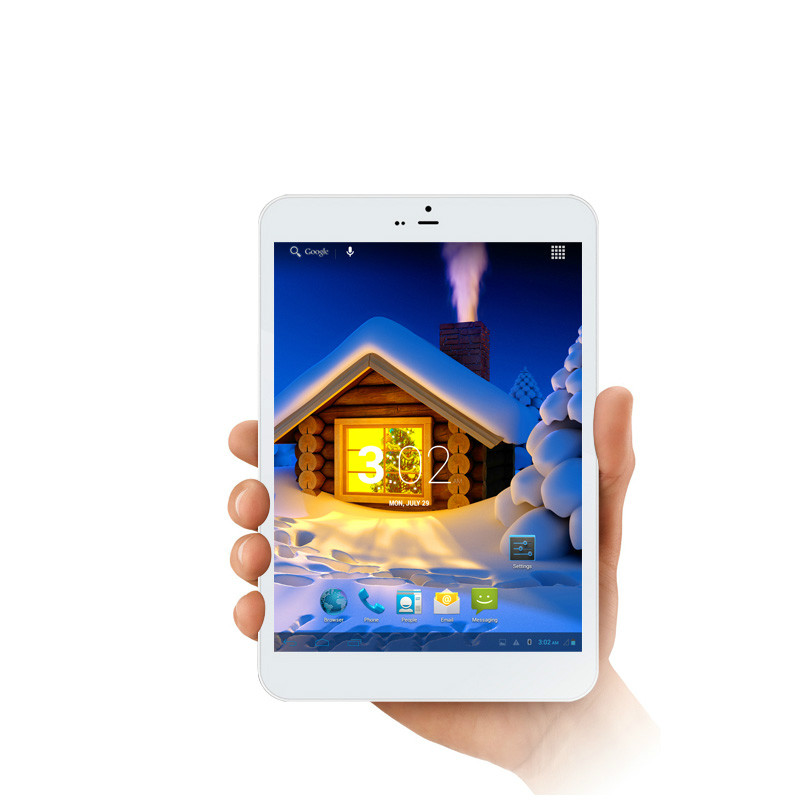 ONN M7 Ultra slim 7.85 inch Tablet IPS 3G Quad Core(Front:white,back:silver)