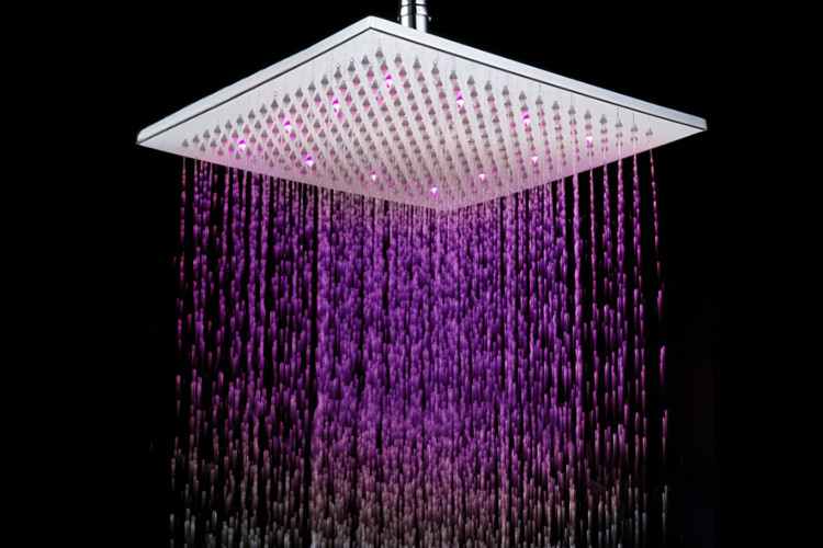 LED 12 inches ABS Square Overhead Rain shower nozzle