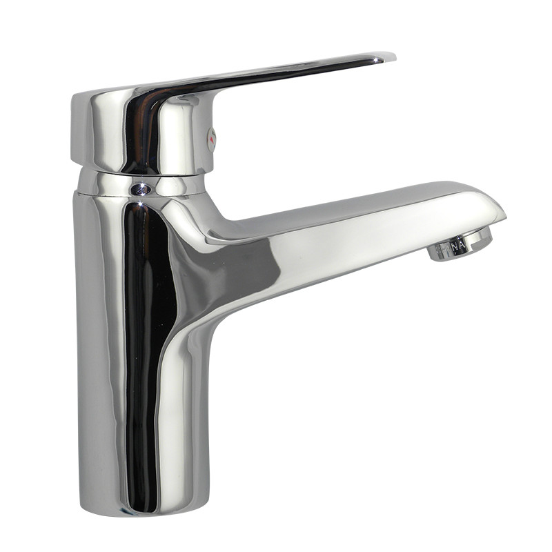 Chromed plating ceramic valve core brass basin faucet
