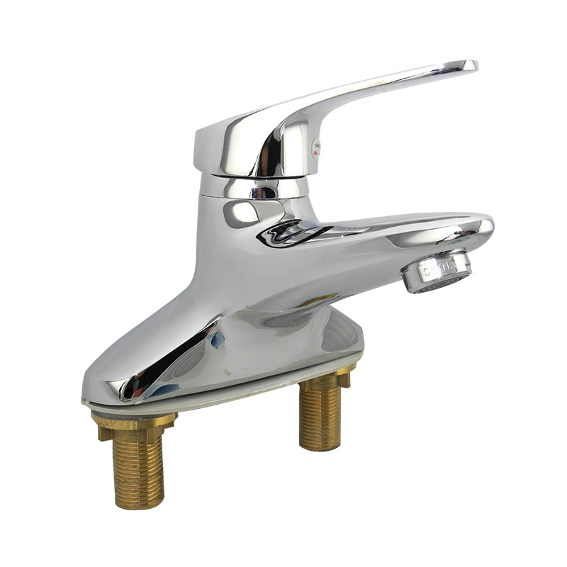 Brass Chromed plating ceramic valve core basin faucet