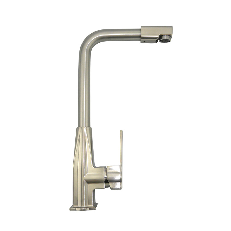 360 Degree Rotation Stainless Steel Brushed kitchen faucet QICL-1007