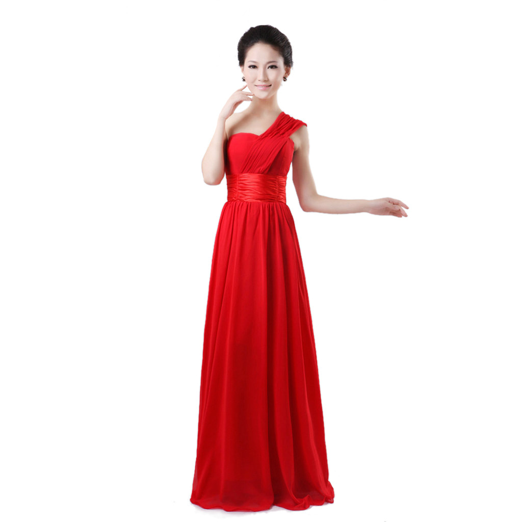 Elegant One Shoulder Layered Mermaid Formal Evening Dress