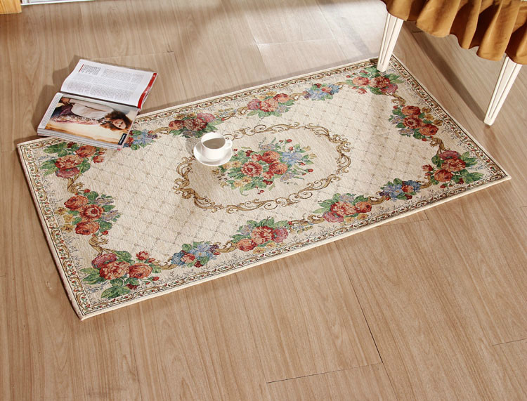 70*140cm European Chenille Fabric Rectangle carpet chenille rugs