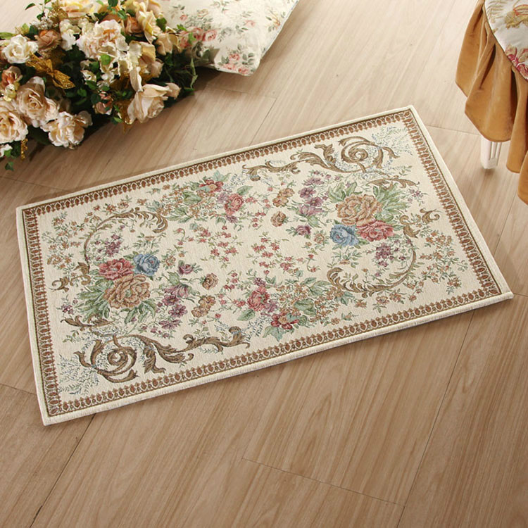 40*60cm European Chenille Fabric Rectangle jacquard carpet modern mat