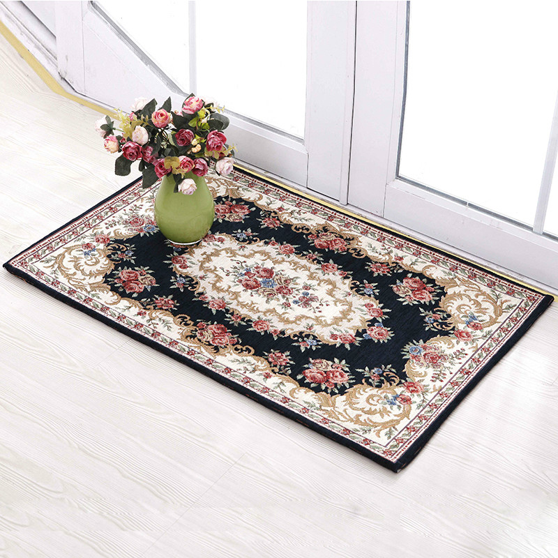 50*80cm European classic Chenille cotton yarn jacquard carpet mats