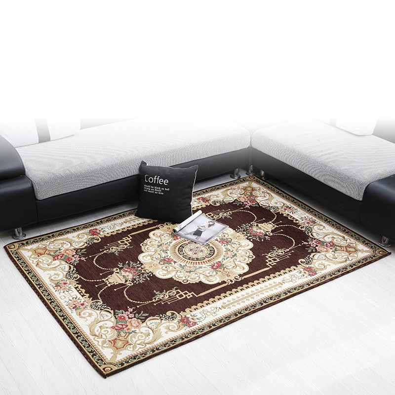 European style Rectangle living room coffee table carpet chenille yarn carpet