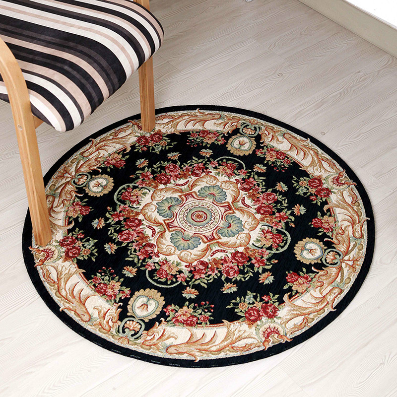Round living room coffee table carpet chenille yarn carpet