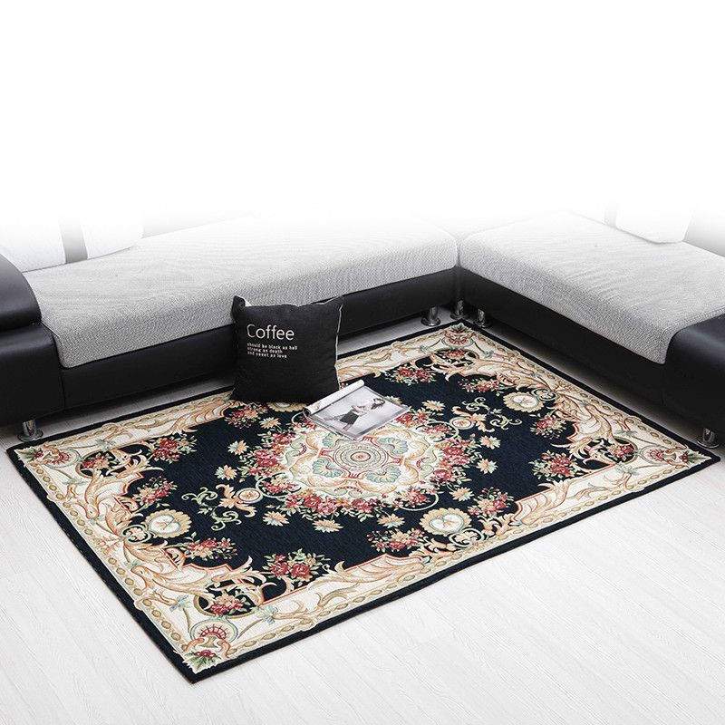 Rectangle living room coffee table carpet chenille yarn carpet