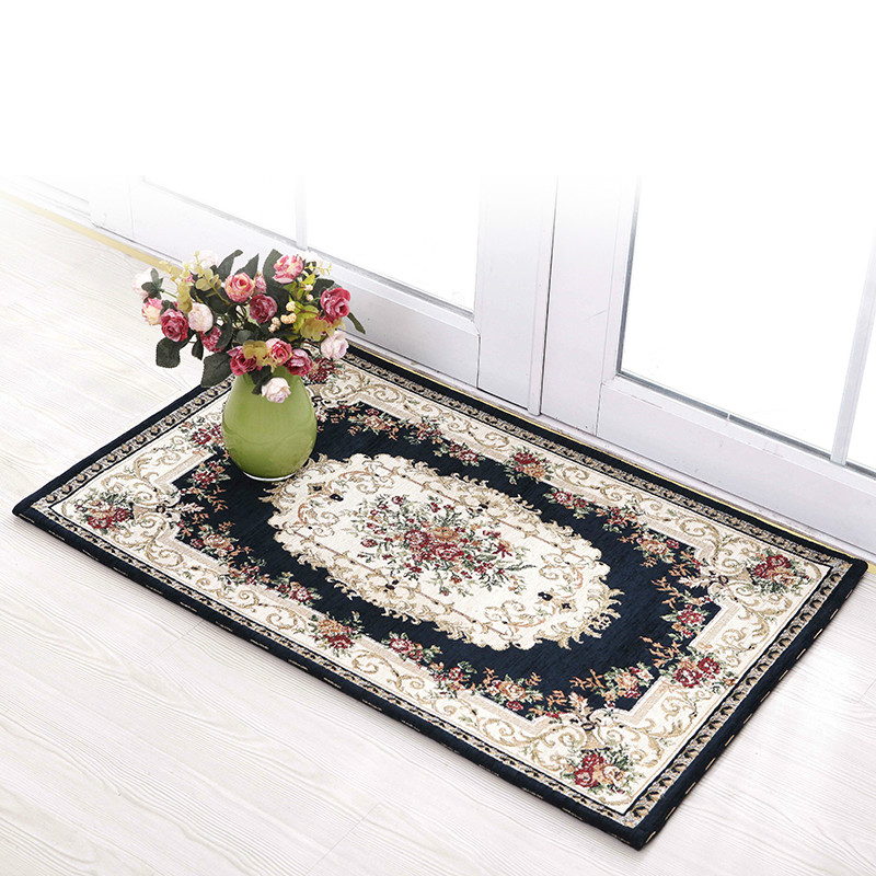 Rectangle chenille yarn carpet living room coffee table carpet jacquard carpet