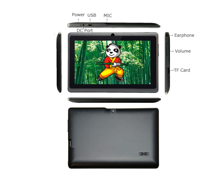7 Inch Android 4.0.4 Tablet 4G ROM 512M RAM WiFi four colores