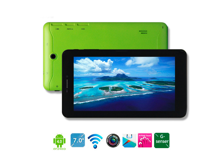 7 inch Android 4.0.4 with 8G ROM 512M RAM Wifi Dual Camera Gsensor