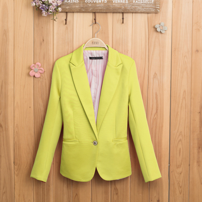 Women's candy color slim suit