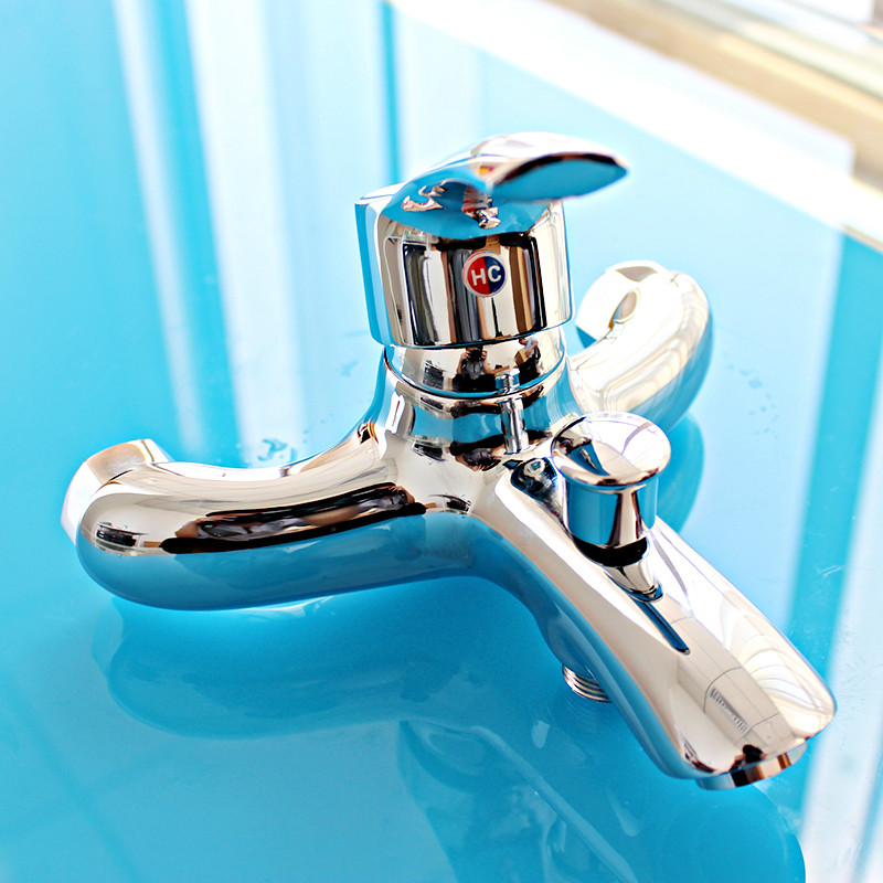 Wall-in modern three holes bathroom Hot/Cold faucet