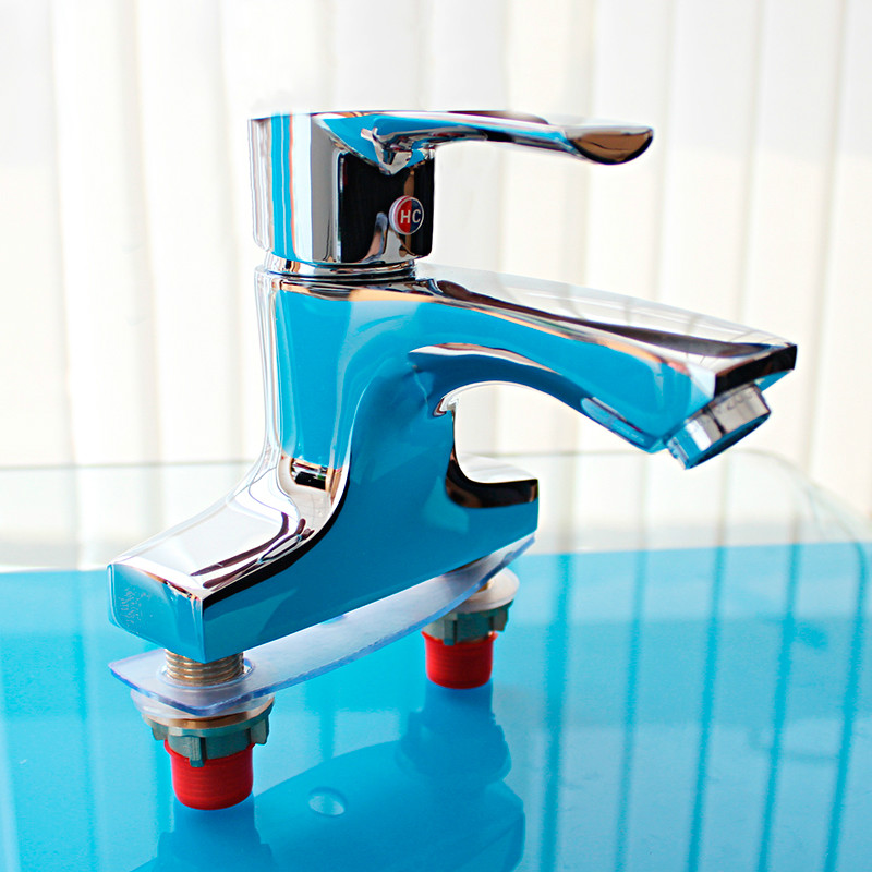 Durable Brass Body Chrome Plated Bathroom Sink Basin Mixer Single Handle Tap Faucet