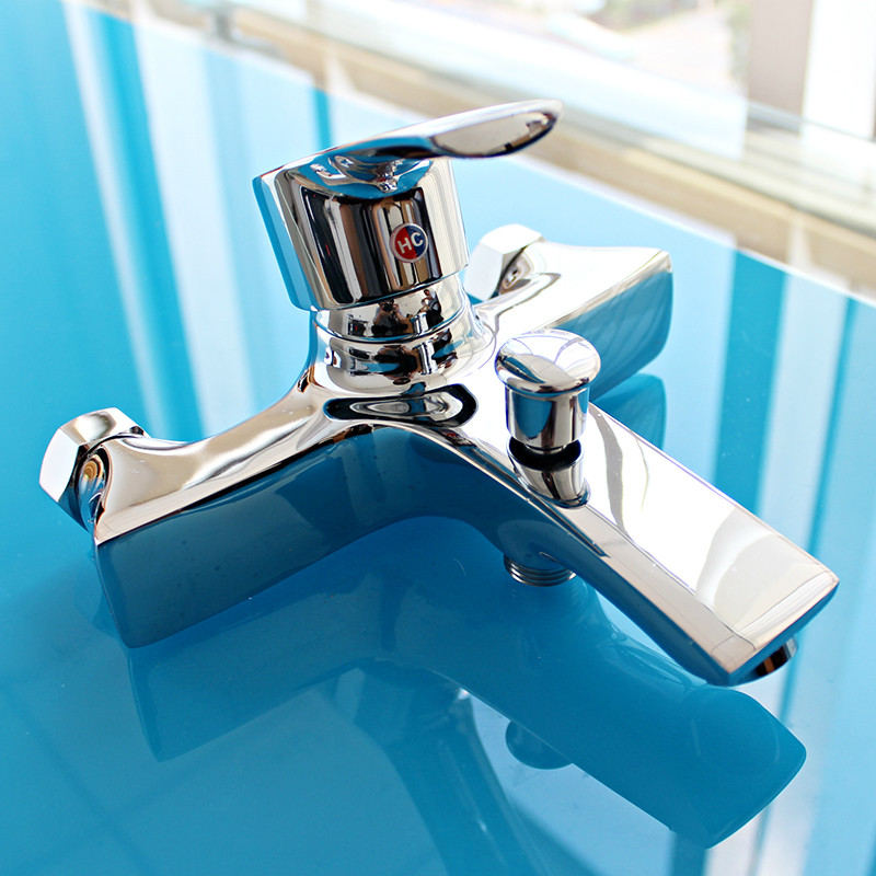 Durable Brass Body Chrome Plated Bathroom Sink Basin Mixer Tap Faucet valve
