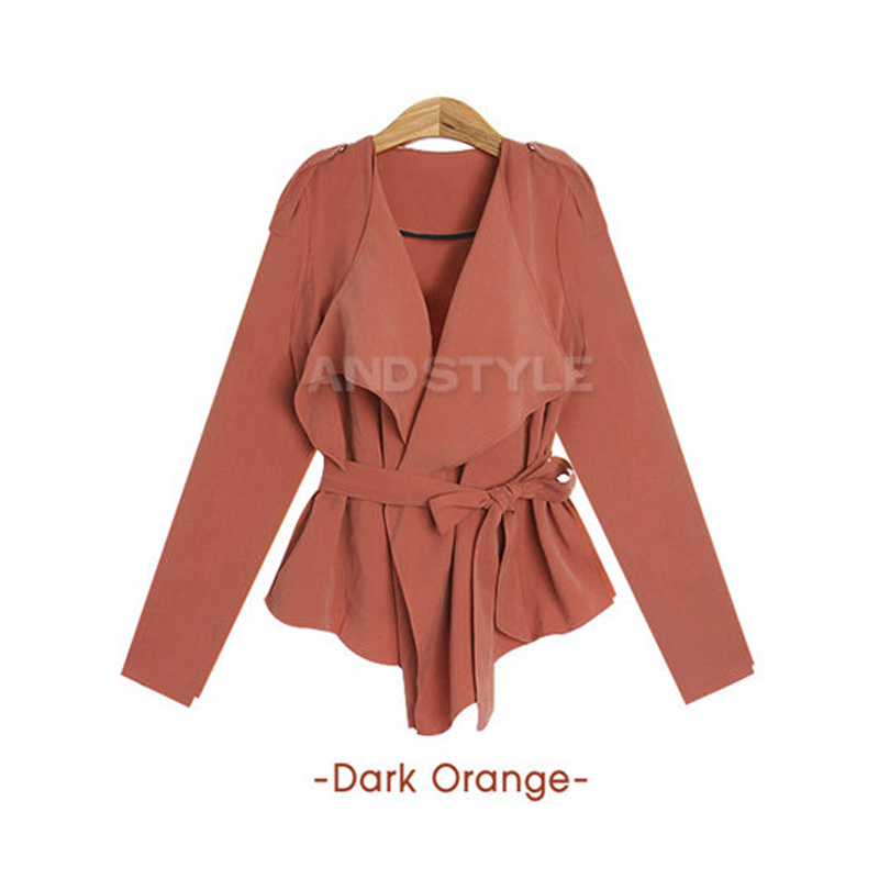 2013 fashion Women's autumn new small trench coat