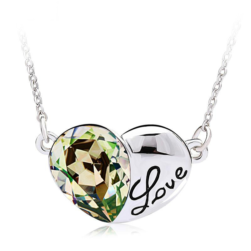 2014 Heart-shaped crystal necklace for woman