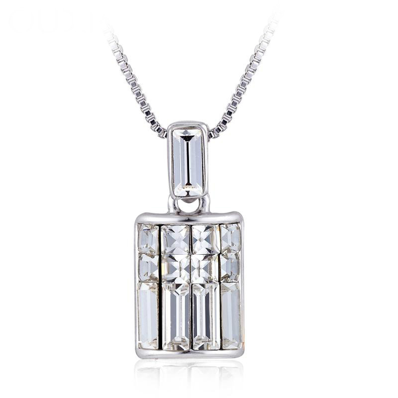 hot!!!2014 Hollow flower delicate Crystal Fashion Pendant Necklace for women