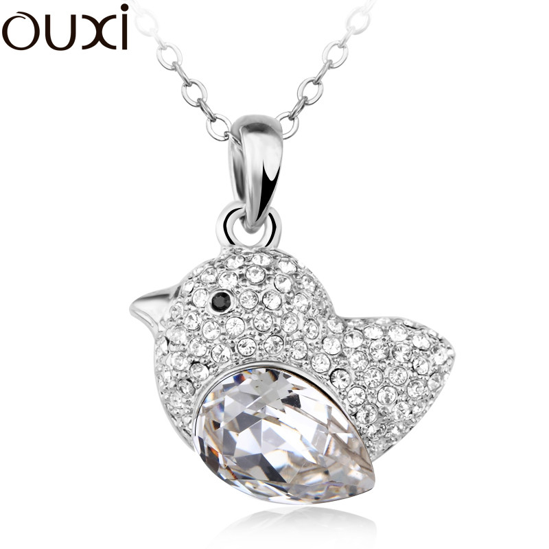 2014 Classic bird shape Fashion Crystal Pendant Necklace free shipping