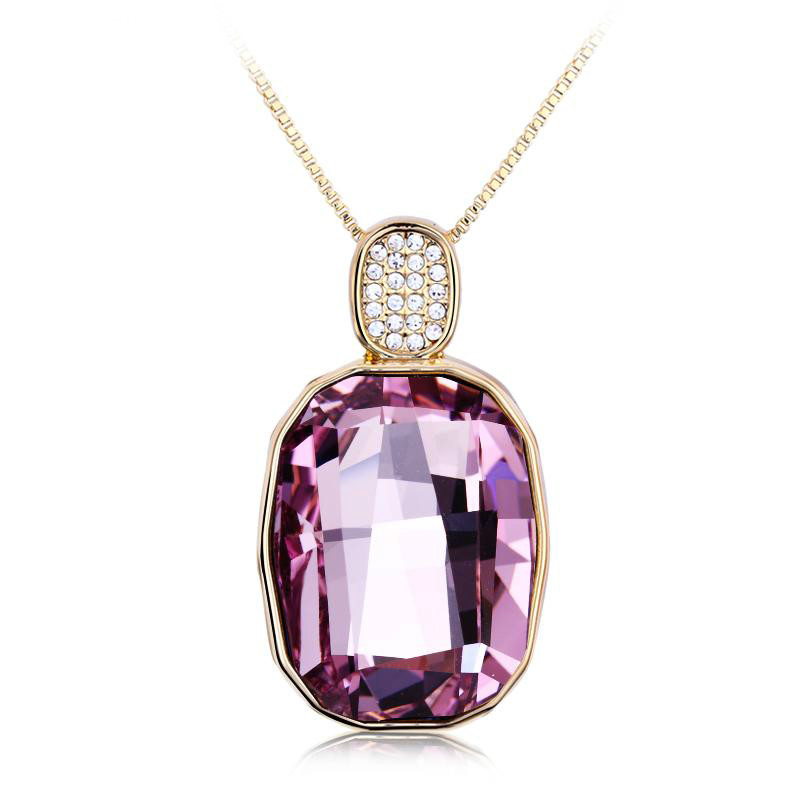 2014 Fit For Party 18k Fashion Crystal Pendant Necklace free shipping!