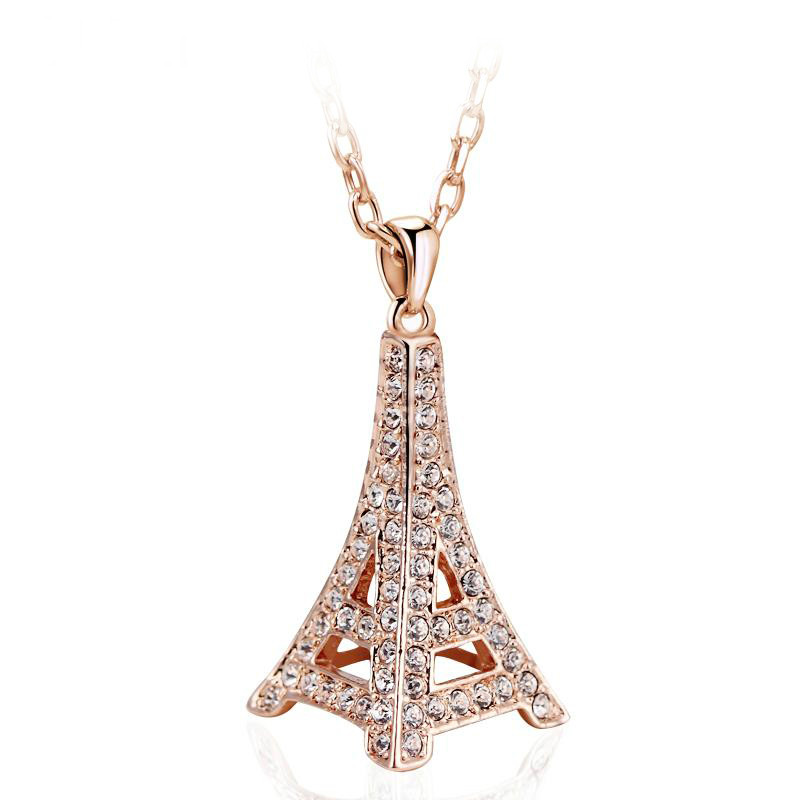 2014 Hot sale fashion Elegant Eiffel Tower stud necklace for woman girl ladies