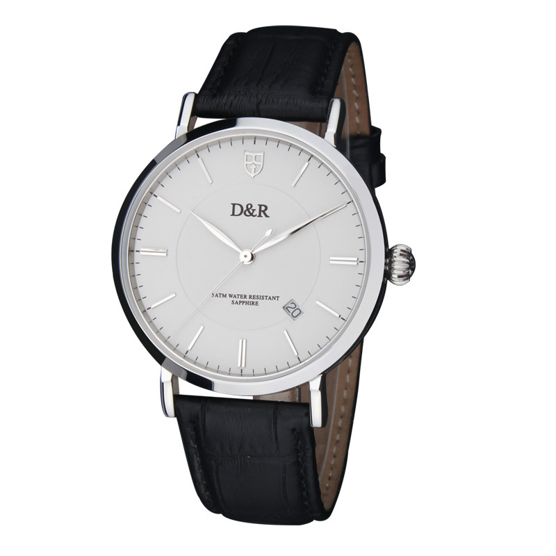 Fashion Famous Brand Leather Strap Quartz Wrist Watches Men Best Gift Free Shipping