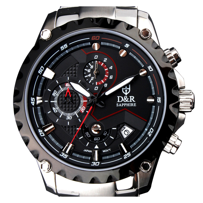2014 NEW Fashion Luxury Man Stainless Steel Watch Free Shipping